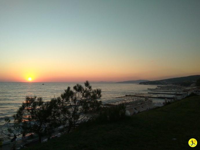Солнце село