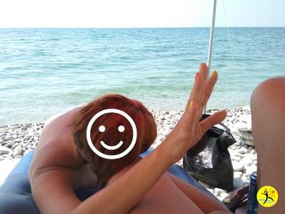 Мы на пляже)