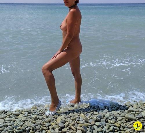 На пляже..
