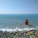 На пляжике)