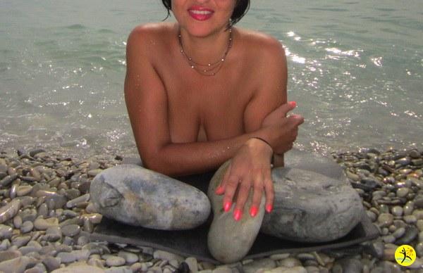 На пляжике