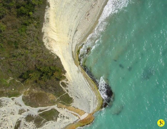 Второй пляж с высоты